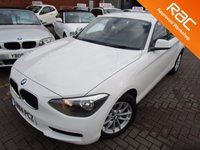 USED 2014 14 BMW 1 SERIES 2.0 118D SE 5d 141 BHP 1 OWNER IN PEARL WHITE