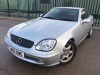 USED 2002 02 MERCEDES-BENZ SLK 2.3 SLK230 KOMPRESSOR 2d AUTO 197 BHP MOT 11/18 SILVER MET WITH FULL BLACK LEATHER. ELECTRIC SEATS. CRUISE CONTROL. 16 INCH ALLOYS. COLOUR CODED TRIMS. AIRCON. R/CD PLAYER. MOT 10/18. AGE/MILEAGE RELATED SALE. TEL: 01937 849492