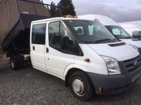 USED 2010 60 FORD TRANSIT 350 LWB DC TIPPER  DRW
