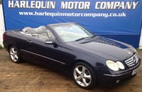 USED 2003 53 MERCEDES-BENZ CLK 3.2 CLK320 ELEGANCE 2d AUTO 218 BHP 2003 53 MERCEDES CLK 320 CONVERTIBLE AUTOMATIC IN METALLIC BLUE WITH CONTRASTING GREY LEATHER SAT NAV ALLOYS ELECTRIC CONVERTIBLE ROOF SERVICE HISTORY VERY TIDY EXAMPLE
