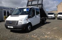 USED 2013 FORD TRANSIT 350 LWB DC TIPPER 125PS (ALLOY BODY)