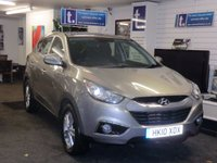 USED 2010 10 HYUNDAI IX35 2.0 STYLE CRDI 4WD 5d 134 BHP Immaculate example in Prestige Silver with ONLY 56,000 miles with Full Service History-great spec with blue tooth,rear park sensors,heated seats,Ipod connectivity,Park Assist-MUST BE VIEWED