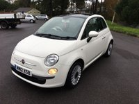 USED 2012 12 FIAT 500 1.2 LOUNGE 3d 69 BHP WHITE 500 LOUNGE WITH FSH PAN ROOF ALLOYS