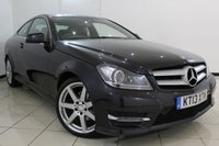 USED 2013 13 MERCEDES-BENZ C CLASS 2.1 C220 CDI BLUEEFFICIENCY AMG SPORT 2DR AUTOMATIC 170 BHP HEATED LEATHER SEATS + SAT NAVIGATION + PARKING SENSOR + BLUETOOTH + CRUISE CONTROL + MULTI FUNCTION WHEEL + 18 INCH ALLOY WHEELS