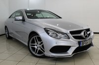 USED 2014 64 MERCEDES-BENZ E CLASS 3.0 E350 BLUETEC AMG SPORT 2DR AUTOMATIC 252 BHP FULL MERCEDES SERVICE HISTORY + HEATED LEATHER SEATS + SAT NAVIGATION + PANORAMIC ROOF + REVERSE CAMERA + BLUETOOTH + CRUISE CONTROL + MULTI FUNCTION WHEEL + 18 INCH ALLOY WHEELS