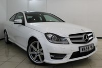 USED 2014 64 MERCEDES-BENZ C CLASS 2.1 C250 CDI AMG SPORT EDITION PREMIUM PLUS 2DR AUTOMATIC 202 BHP FULL MERCEDES SERVICE HISTORY + HEATED HALF LEATHER SEATS + SAT NAVIGATION + PANORAMIC ROOF + BLUETOOTH + CRUISE CONTROL + MULTI FUNCTION WHEEL + 18 INCH ALLOY WHEELS