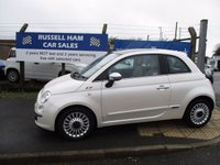 USED 2010 10 FIAT 500 1.2 LOUNGE 3d 69 BHP 5 Stamps Of Service History - 2 Former Keeper's . Spare key and Owners Book pack - New MOT & Full Service Done on purchase + 2 Years FREE Mot & Service After Included .  Finance Arranged - Credit Card's Accepted . for more cars www.russellham.co.uk Unique Colour coding throughout