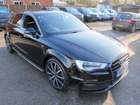 USED 2013 63 AUDI A3 2.0 TDI S LINE 5d 148 BHP + HEATED SEATS + SAT NAV