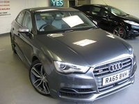 USED 2015 65 AUDI A3 2.0 S3 QUATTRO NAV 4d AUTO 296 BHP S3 Saloon Navigation. Sound Package B&O. Comfort package. Metallic Grey.