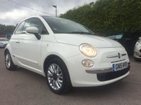 2015 FIAT 500 1.2 LOUNGE 3d 1 LADY OWNER WITH 2 SERVICES  £6500.00