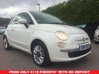 USED 2015 15 FIAT 500 1.2 LOUNGE 3d 1 LADY OWNER WITH 2 SERVICES  NO DEPOSIT  PCP/HP FINANCE ARRANGED, APPLY HERE NOW
