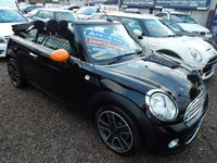 "USED 2011 11 MINI CONVERTIBLE 1.6 ONE 2d 98 BHP AIR CONDITIONING, 17"" ALLOYS, CD PLAYER, BLUETOOTH"