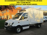 USED 2013 63 MERCEDES-BENZ SPRINTER 2.1 313CDI FRIDGE CHILLER BOX. NEW SHAPE. 7G TRONIC AUTOMATIC ONLY 78,000 MILES. EX-SAINSBURYS VAN. FINANCE. PX WELCOME