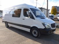 USED 2014 64 MERCEDES-BENZ SPRINTER 310 CDI LWB 6 SEATER CREW CAB, 100 BHP [EURO 5], FULL SERVICE HISTORY