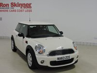 USED 2014 63 MINI HATCH FIRST 1.6 FIRST 3d 75 BHP
