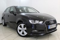 USED 2013 63 AUDI A3 2.0 TDI SPORT 5DR AUTOMATIC 148 BHP SERVICE HISTORY + BLUETOOTH + PARKING SENSOR + CRUISE CONTROL + MULTI FUNCTION WHEEL + CLIMATE CONTROL + 17 INCH ALLOY WHEELS