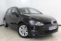 USED 2013 63 VOLKSWAGEN GOLF 2.0 SE TDI BLUEMOTION TECHNOLOGY 5DR 148 BHP SERVICE HISTORY + BLUETOOTH + CRUISE CONTROL + MULTI FUNCTION WHEEL + AIR CONDITIONING + DAB RADIO + 16 INCH ALLOY WHEELS
