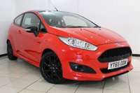 USED 2015 65 FORD FIESTA 1.0 ZETEC S RED EDITION 3DR 139 BHP BLUETOOTH + MULTI FUNCTION WHEEL + AIR CONDITIONING + RADIO/CD + 16 INCH ALLOY WHEELS