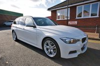 USED 2013 63 BMW 3 SERIES 2.0 320D M SPORT TOURING 5d AUTO 181 BHP 4 SERVICES TO 75K MILES + 1 OWNER + FULL LEATHER + BLUETOOTH + DAB