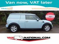 2013 MINI CLUBVAN 2.0 COOPER D AUTO 110 BHP (SAT NAV) ** LOADED **  £11850.00