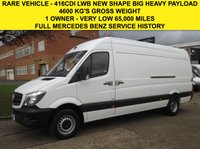 USED 2014 64 MERCEDES-BENZ SPRINTER 2.1 416CDI LWB HIGH ROOF RARE 163 BHP FACELIFT NEW SHAPE. BIG PAYLOAD RARE BIG ENGINE. LOW 65K. MERCEDES HISTORY. FINANCE. PX WELCOME.