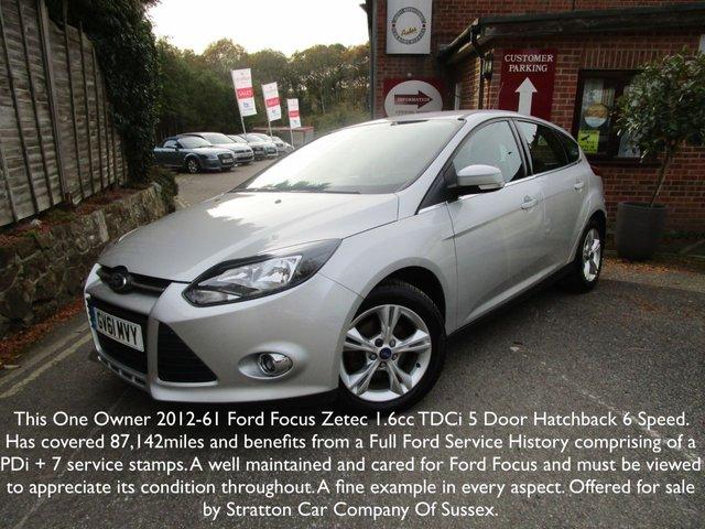 2012 61 FORD FOCUS 1.6 ZETEC TDCI 5d 113 BHP