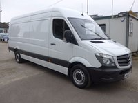 USED 2015 65 MERCEDES-BENZ SPRINTER 313 CDI LWB HI ROOF, 130 BHP [EURO 5], FULL SERVICE HISTORY, 1 COMPANY OWNER