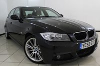 USED 2010 59 BMW 3 SERIES 2.0 318D M SPORT BUSINESS EDITION 4DR 141 BHP BMW SERVICE HISTORY + LEATHER SEATS + SAT NAVIGATION + PARKING SENSOR + BLUETOOTH + CRUISE CONTROL + MULTI FUNCTION WHEEL + 18 INCH ALLOY WHEELS