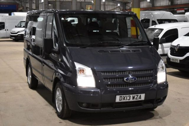 2013 13 FORD TRANSIT 2.2 280 LIMITED TOURNEO LR 9 STR 5d 124 BHP AIR CON SWB DIESEL MANUAL MINIBUS ONE OWNER FULL S/H SPARE KEY
