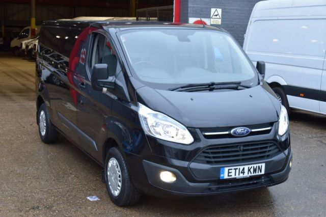 2014 14 FORD TRANSIT CUSTOM 2.2 290 TREND LR P/V 5d 124 BHP LWB FWD DIESEL PANEL MANUAL VAN ONE OWNER FULL LOADED VAN, SPARE KEY
