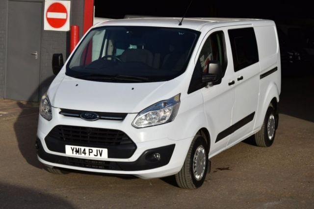 2014 14 FORD TRANSIT CUSTOM 2.2 290 TREND LR DCB 6d 124 BHP FWD LWB 6 SEATER COMBI DIESEL MANUAL VAN ONE OWNER S/H SPARE KEY