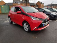 USED 2015 15 TOYOTA AYGO 1.0 VVT-I X-PLAY 5d 69 BHP WITH AIR CONDITIONING,AUXILLIARY AND USB!!...EXCELLENT FUEL ECONOMY!!..LOW CO2 EMISSIONS(95G/KM)..£0 ROAD TAX...FULL HISTORY...5 YEAR TOYOTA WARRANT FROM NEW!!