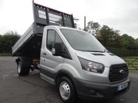 USED 2018 18 FORD TRANSIT 350 MWB FORD TRANSIT 35 L2 Mwb Tipper 2.0 Tdci 130Ps New Unregistered High Specification Model With Air Con & Visibility Pack, Good Saving On Fords List With With Immediate Availability