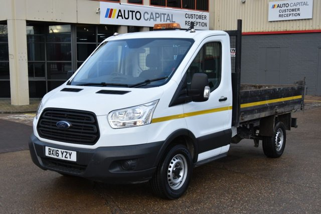 2016 16 FORD TRANSIT 2.2 350 C/C DRW 2d 125 BHP LR MWB RWD TIPPER ONE OWNER FROM NEW