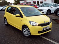 USED 2014 64 SKODA CITIGO 1.0 SE 12V 3d 59 BHP FULL Skoda Service History ONE Owner