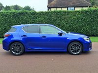 USED 2012 12 LEXUS CT 1.8 200H F SPORT 5d AUTO 136 BHP MEGA COLOUR MEGA SPEC £0 TAX 1 OWNER  DRIVES LIKE NEW FULL LEXUS SERVICE HISTORY BEST FINANCE RATES AVAILABLE ENQUIRE TODAY