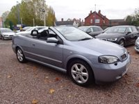 USED 2004 04 VAUXHALL ASTRA 2.2 COUPE CONVERTIBLE 16V 2d AUTO 147 BHP FSH - 11 STAMPS, BLUETOOTH, HEATED SEATS, REVERSE PARKING SENSORS, MOT APRIL 2018