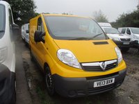 2013 VAUXHALL VIVARO 2.0 2900 CDTI SWB WITH  TAIL GATE 115 BHP £5250.00