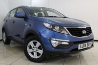 USED 2014 64 KIA SPORTAGE 1.7 CRDI 1 5DR 114 BHP FULL SERVICE HISTORY + BLUETOOTH + CRUISE CONTROL + MULTI FUNCTION WHEEL + AUXILIARY PORT + AIR CONDITIONING + 16 INCH ALLOY WHEELS
