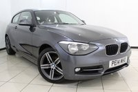 USED 2014 14 BMW 1 SERIES 2.0 118D SPORT 3DR 141 BHP BLUETOOTH + CRUISE CONTROL + MULTI FUNCTION WHEEL + AUXILIARY PORT + 17 INCH ALLOY WHEELS