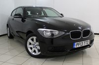USED 2013 13 BMW 1 SERIES 1.6 114I ES 3DR 101 BHP BMW SERVICE HISTORY + AIR CONDITIONING + AUXILIARY PORT + RADIO/CD + 16 INCH ALLOY WHEELS