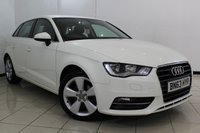 USED 2013 63 AUDI A3 2.0 TDI SPORT 5DR 148 BHP BLUETOOTH + PARKING SENSOR + CRUISE CONTROL + MULTI FUNCTION WHEEL + CLIMATE CONTROL + 17 INCH ALLOY WHEELS