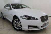 USED 2013 63 JAGUAR XF 2.2 D LUXURY 4DR AUTOMATIC 163 BHP HEATED LEATHER SEATS + SAT NAVIGATION + PARKING SENSOR + BLUETOOTH + CRUISE CONTROL + MULTI FUNCTION WHEEL + 17 INCH ALLOY WHEELS