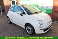 USED 2012 62 FIAT 500 1.2 LOUNGE 3d 69 BHP +LOW Tax Band +MORE Available.