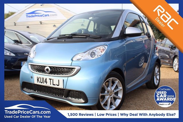View our 2014 14 SMART FORTWO 1.0 PASSION MHD 2d AUTO 71 BHP