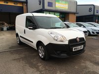USED 2014 64 FIAT DOBLO 1.2 16V MULTIJET 1d 90 BHP 56,000 MILES, E/W, CHOICE OF 4, 6 MONTH WARRANTY & FINANCE ARRANGED. 1 owner, recent full service, Electric Windows, Power Steering, Central Locking, Side Load Door, ABS, Height Adjustable Seat, Adjustable Steering Column, Air Bag, CD Player, Radio, ply lined, bulk head. Part exchange welcome, delivery can be arranged, we can also supply & fit roof racks, ply lining, hands free kits, parking sensors or any other requirements you may require when purchasing your new van