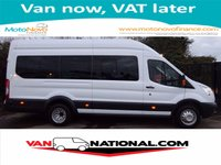 2016 FORD TRANSIT 2.2 460 L4 TREND HIGH ROOF BUS 17 SEATER 125 BHP (AIR CONDITIONING) £19990.00
