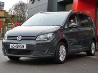 USED 2014 64 VOLKSWAGEN TOURAN 1.6 TDI SE BLUEMOTION TECH 5d 105 S/S 1 OWNER FROM NEW, FULL VW SERVICE HISTORY, 7 SEATS, PRIVACY GLASS, PARK ASSIST (AUTOMATED STEERING/PARKING), FRONT+ REAR PARKING SENSORS W/ DISPLAY, DAB, CRUISE, ALUMINIUM ROOF RAILS, BLUETOOTH W/ AUDIO STREAMING, OVERHEAD + UNDER SEAT STORAGE (FRONT), AUTO LIGHTS + WIPERS, AUTO DIMMING REAR VIEW MIRROR, MDI + AUX IN FOR IPOD / MP3 / USB, LEATHER MULTI FUNCTION STEERING WHEEL, HALOGEN DRLS, DIS TRIP COMPUTER, ELECTRICALLY ADJUSTABLE HEATED DOOR MIRRORS, 16 IN TWIN 5 SPOKE ALLOYS, VAT Q