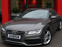 USED 2013 13 AUDI A7 SPORTBACK 3.0 TDI QUATTRO S LINE 5d AUTO S/S OVER £2000 OF EXTRA SPEC, UPGRADE ELECTRIC SLIDE / TILT SUNROOF, UPGRADE REAR VIEW CAMERA, SAT NAV, FULL BLACK LEATHER INTERIOR, HEATED FRONT SEATS, ELECTRIC TAILGATE, AUDI MUSIC INTERFACE FOR IPOD/USB DEVICES (AMI), DAB RADIO, BLUETOOTH PHONE & MUSIC STREAMING, AUTO HILL HOLD, LED XENON LIGHTS, FRONT & REAR PARKING SENSORS WITH DISPLAY, 19 INCH ALLOYS, PADDLE SHIFT, CRUISE CONTROL, LIGHT & RAIN SENSORS, 1 OWNER FROM NEW, FULL AUDI SERVICE HISTORY