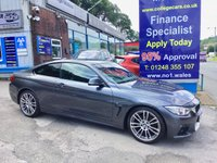USED 2015 15 BMW 4 SERIES 2.0 420D M SPORT 2d 188 BHP, Sat Navigation, Full Leather, ***APPROVED DEALER FOR CAR FINANCE247 AND ZUTO  ***